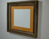 11x14 wood picture frame with dark yellow 8x10 mat