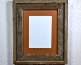 8 x 10 frame from reclaimed wood with 5 x 7 mat