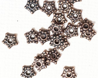 50 pcs of Antique copper  star spacer beads 5mm, alloy spacer beads