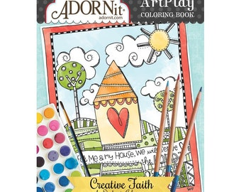 Documented Faith Creative Coloring Book O AdornIt ArtPlay Colouring Printed On Watercolor Paper CB810 27