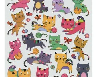 Kitten With Yarn Sticker • Kitty Cat Sticker • Kitten Sticker • Cat Lover • Pet Lover • Kitty Cat Birthday • Cat Birthday Party (SK4301)