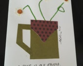 Coffee is my friend, Original art card