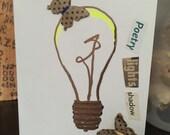 Poetry lights shadow, Original 3D art card