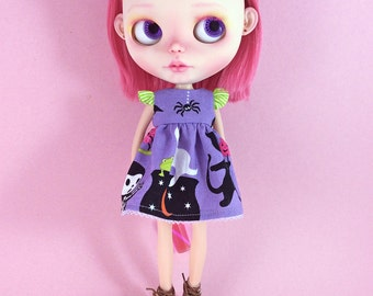 Halloween Dress for Blythe  with Flutter Sleeves