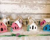 8 Vintage Christmas Putz Houses Holiday Decor