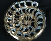 Gold Luster Spiral wall piece or sculpture