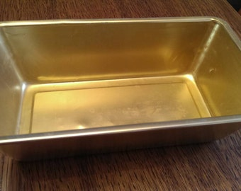 Vintage Gold Anodized Aluminum Bread Pan
