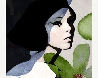 On Sale Fine Art Print, Giclee Archival Print, Photomontage, Collage, Painted Photographs, Girl with Pomagranate....fine art reproduction p