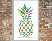 Rainbow Pineapple - a Counted Cross Stitch Pattern