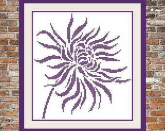 Chrysanthemum.....a simple cross stitch pattern