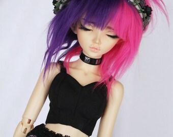 BJD Doll clothes Slim MSD Minifee Black Bodice corset bralet MonstroDesigns