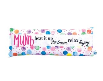 Watercolour Confetti Spots Personalised Heat Pack