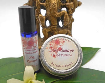 Natural Perfume Set, Nag Champa Scent, Roll On Perfume, Solid Perfume, Perfume Gift Set