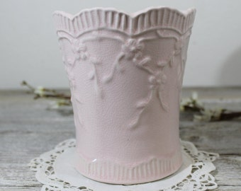 Blush Pink flower Vase, Shabby Chic ,Pink Vase ,Ceramic, Flower Holder,