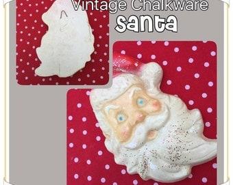 Ho Ho Ho! Vintage Chalkware Retro Santa