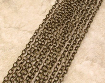 Flat Cable Chain, Soldered, 5mm, Brass Ox, 3 Ft. AB146