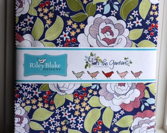 SALE 10 inch squares Stackers INTO THE Garden fabric by Riley Blake from Amanda Herring