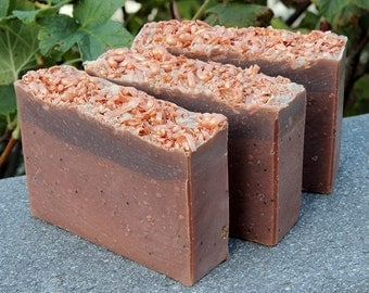 Pumpkin Crunch Cake Cold Process Soap with Cruelty-Free Tussah Silk