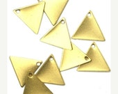 20% Shop Closing Charms Small Triangle Blank Geometric Shape Raw Brass 13x11mm (10) CP141