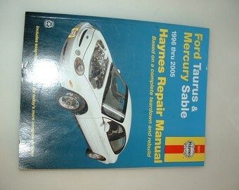 96-05 Ford TAURUS & Mercury SABLE Repair Manual HAYNES #36075 04 03 02 01 00 99