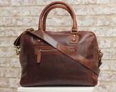 Leather Laptop BagPurse MacBook Ipad bag Oiled Brown Leather