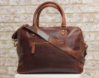 Leather Laptop Bag,Purse, MacBook, Ipad bag, Oiled Brown Leather
