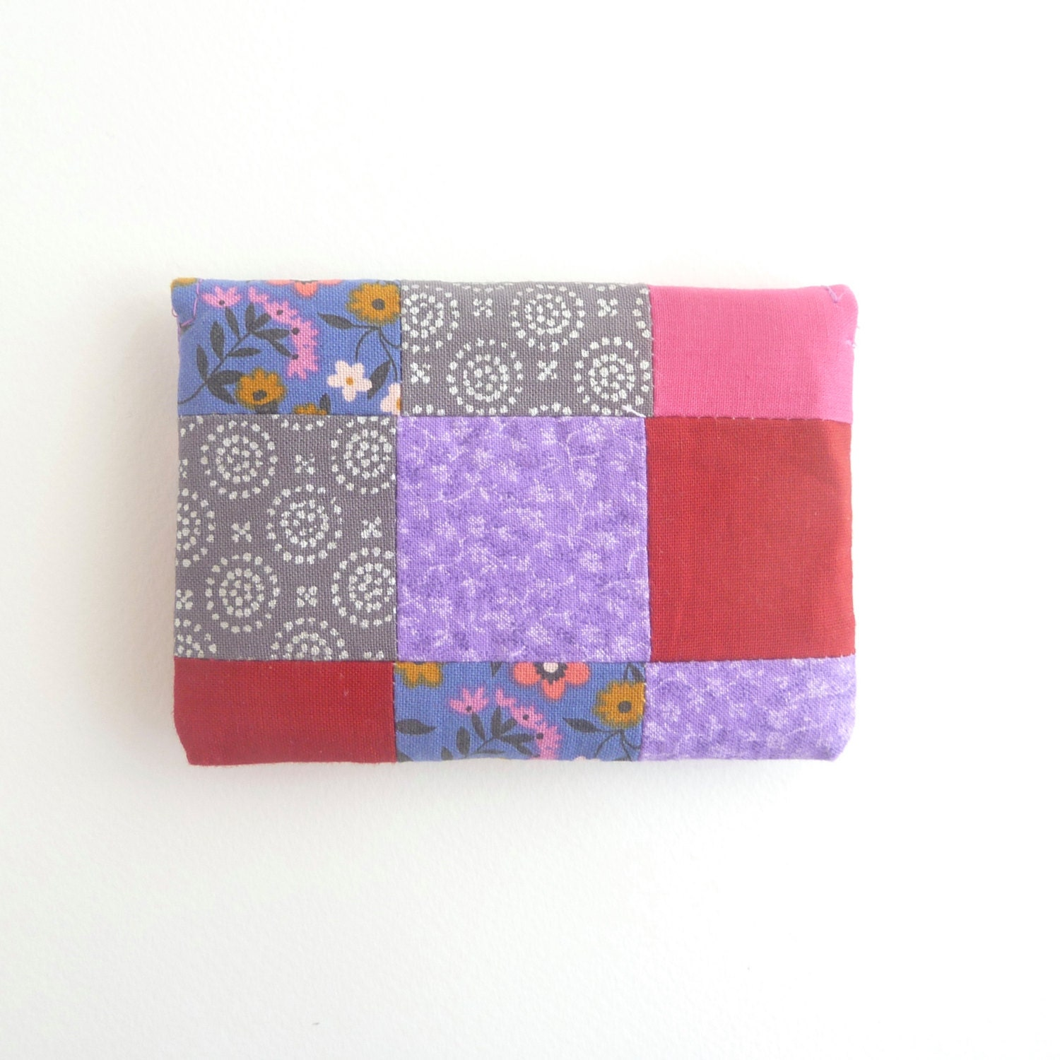Credit card case pink periwinkle fabric women card holder red credit card case pink periwinkle fabric women card holder red grey patchwork business card magicingreecefo Gallery
