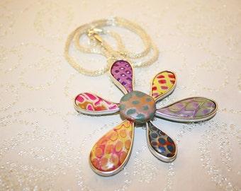 Polymer Floral Pendant