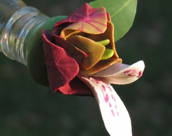 HUMMINGBIRD FEEDER--Shrimp Plant Flower and Bracts