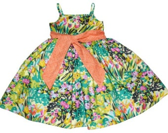 SAMPLE SALE -  Juliet Dress in Barefoot in the Park - Size 12 months...  Classic beauty!