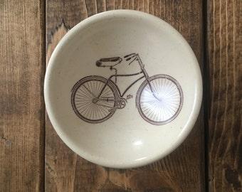 Bicycle white stoneware earring bowl