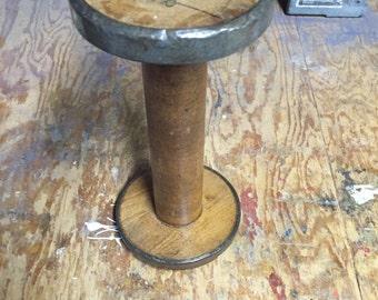 Wooden Bobbin Spool  Antique
