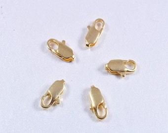 10 solid brass clasps satin matte finish