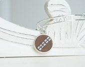 Star Wars Chewbacca Adjustable Bangle Bracelet -  Alex & Ani Inspired Style