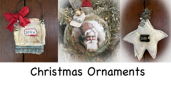 Christmas ornaments ONLINE class