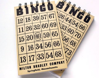 Pair of Vintage Bingo Game Card Sketchbook