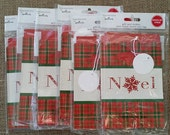 RARE Expressions by Hallmark OOP Christmas Plaid Gift Card Holder 3 pack HTF