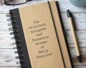 Personalized Journal, Notebook, Brilliant Thoughts