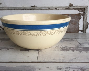 Antique Ironstone Bowl - Blue and White - Mixing Bowl Universal Cambridge