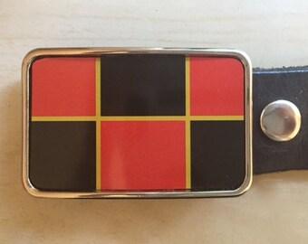 Checkers belt buckle.  Belt Buckles for men and women.  Board games.