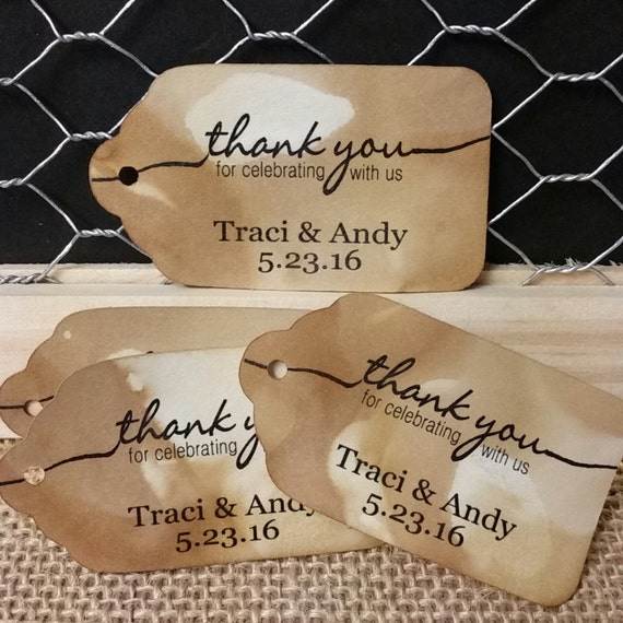 Thank you for celebrating with us MEDIUM Personalized Wedding Favor Tag  choose your amount
