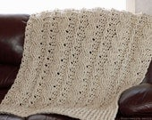 CROCHET PATTERN - Chunky Cables Decorative Throw - Instant Download (PDF)