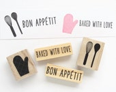 Rubber Stamp Set - Cooks and Bakers