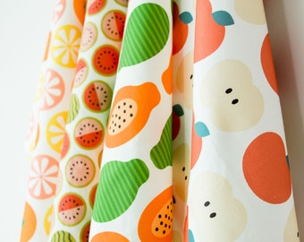 Fruits Tea Towel / Dish Towel - choose from Papaya, Apple, Citrus, & Watermelon
