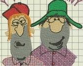 Talk Funny Custom Digitized Embroidery Design (private listing)
