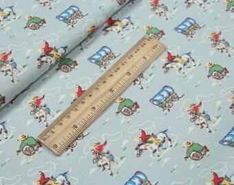 4224 - Cath Kidston Cowboy (Light Blue) Cotton Canvas Fabric - 57 Inch (Width) x 1/2 Yard (Length)