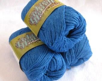 Royal blue wool blend worsted weight yarn, felting yarn, soy silk hemp blend yarn, SWTC Rock Dave