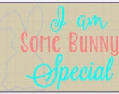 I'm Some Bunny Special, Bunny Embroidered Shirt, Birthday shirt,