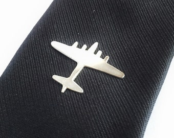 Silver Lapel Pin, Silver Tie Tac, Airplane Lapel Pin, Aviation Jewelry, Mens Jewelry, gift for him, custom Father's Day gift for Groomsmen