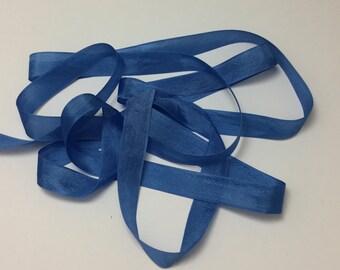 Vintage Rayon Seam Binding - Sky Blue - 1/2 inch - 3 Yards